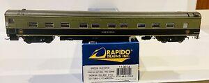 Rapido HO Green Sleeper Canadian National (Pullman) #1166 Greening 1954. NEW