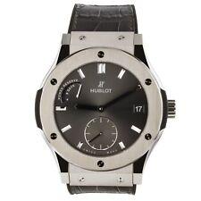 Hublot Classic Fusion Power Reserve 8 Days Titanium Grey Watch 516.NX.7070.LR