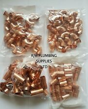 100 X 15MM COPPER END FEED MIXED FITTINGS PACK JOB LOT WRAS/EN APPROVED