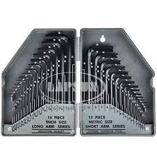 30pcs/set Combo Hexagon Hex Allen Key Wrench Screwdriver Tool Kit METRIC & SAE A