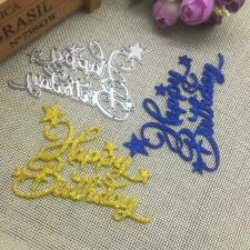 Happy Birthday Metal Cutting Dies Stencil Scrapbooking Decor Album Paper V2Z0