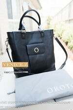 BNWT OROTON RRP$695 TAPIZ Tote Leather Shoulder Bag Satchel Tote Handbag Black