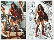 JUSTICE LEAGUE #1 NM BROOKS WONDER WOMAN VIRGIN AND CONCEPT VARIANT TWO BOOK SET