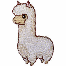 Llama Alpaca Patch Iron On Sew On Lama Sheep Embroidered Badge Animal Embroidery