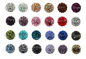 5/10/20 10mm Crystal Paved Clay Disco Ball Shamballa Beads for Bracelets New2021