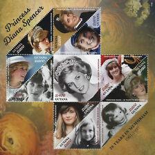 Guyana 2017 MNH Princess Diana of Wales 20th Memorial 11v M/S Royalty Stamps