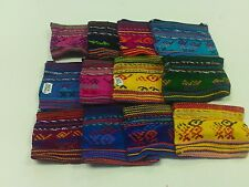 HANDMADE WOVEN COIN CHANGE PURSE POUCH PURSE MADE IN GUATEMALA MAYAN SMALL