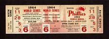 1964 WORLD SERIES GAME 6 FULL TICKET STUB PHILADELPHIA PHILLIES