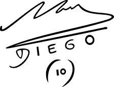 Sticker Football 139 Maradona Signature - 57x44 cm