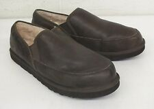 UGG Australia Grafton Brown Shearling Leather Slip-On Shoes Men's 18/52 GREAT