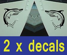 SHARK Decals x 2  for  Boat/Car etc / Stickers / Graphics