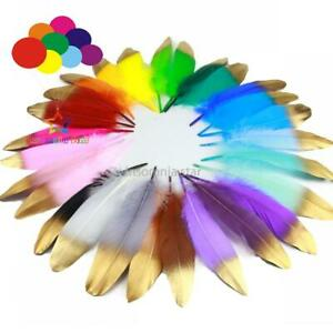 28 color Single Feathers Gold Dipped Feathers Party Decor Princess Nursery Decor