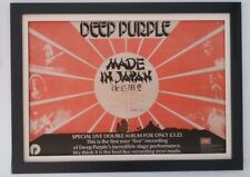 DEEP PURPLE*Made In Japan*1972*ORIGINAL*POSTER*AD*QUALITY FRAMED*FAST WORLD SHIP