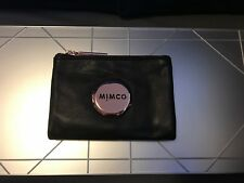 Mimco BLACK Mim Petite Fold Wallet Rosegold Hardware Authentic BNWT RRP149