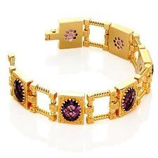 New Rebecca 25.26ctw Hydro Amethyst Vintage Glamour Bracelet