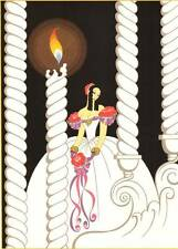 "ORIGINALE VINTAGE Erte Art Deco Print ""LA TRAVIATA"" FASHION BOOK Piastra"