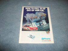 """1991 Mopar Performance Vintage Racing Ad """"How to Pull 20 HP Out of Thin Air"""""""