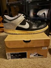 2006 Nike SB DUNK LOW CL AIR JORDAN III 3 BLACK CEMENT GREY 304714-905 Size 14