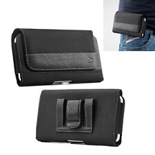 HORIZONTAL BLACK LEATHER BELT CLIP POUCH CASE COVER FOR Samsung Galaxy S8 Plus