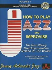 NEW How to Play Jazz & Improvise, Vol. 1 (Book & CD) by Jamey Aebersold