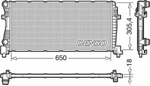 DENSO ENGINE COOLING RADIATOR FOR A VW TOURAN MPV 1.2 81KW