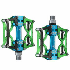 RockBros Cycling MTB Road Bike Pedals Aluminum Alloy Three Sealed Bearings Green