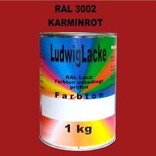 Karminrot   1 kg AUTOLACK RAL 3002 Lack Stumpfmatt Karminrot unverdünnt