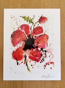 Reproduction Of Abstract Poppy By Dominic Pangborn