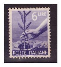 DEMOCRATICA 1945  -  LIRE  6  NUOVO *