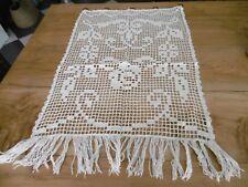 Rideau coton en filet au crochet 48 x 75 cms