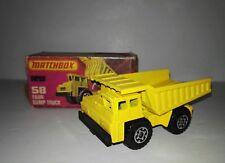 Matchbox Superfast 58e Faun Dumper with original box 1978