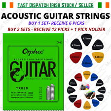 Acoustic Guitar Strings + 6 /12 Picks Extra Light 10s Strings Kit + Pick Holder