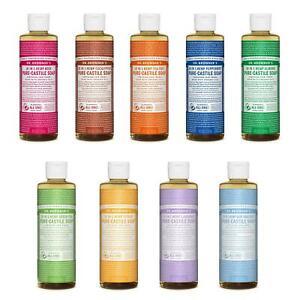 Dr Bronner Castile Liquid Soap Organic Fair Trade Vegan Versatile 237ml