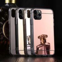 For iPhone 11 Pro Max XS XR Mirror Slim Silicone Shockproof Soft TPU Cover Case
