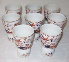 1930 Masons Mandarin 8 Double Egg Cups Oriental Floral Cobalt Gold Trim England