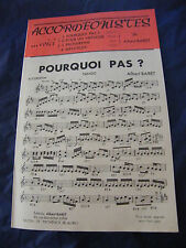 Partition Pourquoi pas? Pour un virtuose Proserpine Albert Baret Music Sheet