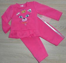 Baby Mädchen Kleid Set 2tlg Anzug 🐞 Pulli + Hose 🐞 KATZE 🐞 fleecegefüttert 🐞