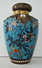 Japanese Totai Shippo Cloisonne High Relief Bird Vase