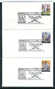 US SC # 3408a-3408t Legends Of Baseball FDC. Ready For  Cachet