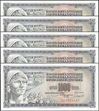 TWN - YUGOSLAVIA 92d - 1000 D 4/11/1981 UNC DO Dealers x 5