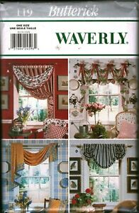 119 Vintage Butterick SEWING Pattern CRAFT Waverly Window Topper Curtain Swag