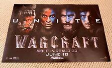 World of Warcraft 2016 Original Promo Movie Poster UNITE