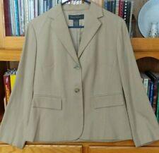 NEW BANANA REPUBLIC 100% SILK Khaki Tan Blazer Lined Suit Jacket Size 8
