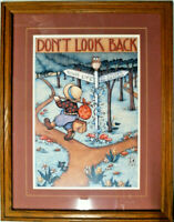 "Mary Engelbreit - Framed - Matted - Print - ""Don't Look Back"" - 24"" x 19"""