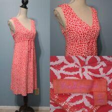 Fresh Produce Pink Peach Tank Dress Boho Beach Travel Womens XS Red Bright Cute
