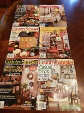 Six COUNTRY SAMPLER magazines