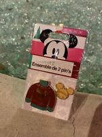 Disney Store 2018 Christmas Red Sweater Gold Mickey Mouse Ornament Holiday Pin