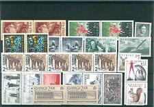 i2106 Schweden,  11 Steckkarten Lot Briefmarken