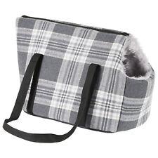 More details for me & my pets grey check travel carrier dog/puppy/cat shoulder bag/handbag tote