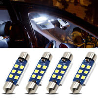 4Pcs Car LED Light Bulb 3030 6SMD C5W Dome Canbus White Super bright Universal